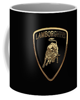 Lamborghini - 3d Badge On Black Coffee Mug