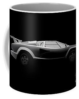 Lamborghini Countach 5000 Qv 25th Anniversary - Side View Coffee Mug