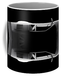 Lamborghini Countach 5000 Qv 25th Anniversary - Top View Coffee Mug