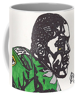 Coffee Mug featuring the drawing Lamicheal James 2 by Jeremiah Colley