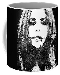 Lana Del Rey Bw Portrait Coffee Mug