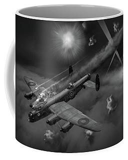 Lancaster Kb799 Under Fire Bw Version Coffee Mug