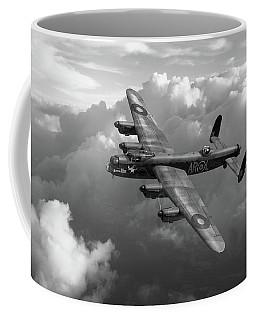 Lancaster W5005 Ar-l Leader Above Clouds Bw Version Coffee Mug