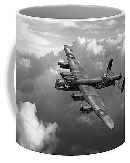 Lancaster W5005 Ar-l Leader Above Clouds Bw Version Coffee Mug