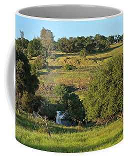 Coffee Mug featuring the photograph Land Of Blue House by Michele Myers