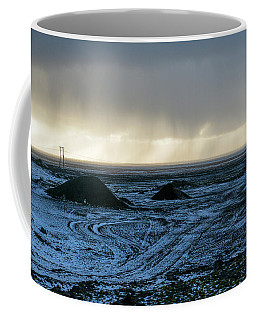 Coffee Mug featuring the photograph land of Lava by Dubi Roman