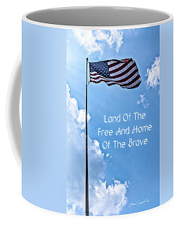 Land Of The Free Coffee Mug by Joann Copeland-Paul