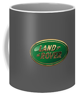 Land Rover - 3d Badge On Black Coffee Mug