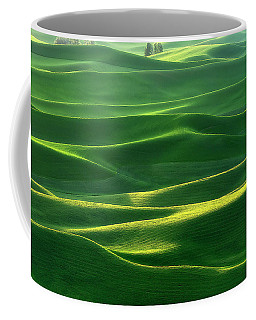 Coffee Mug featuring the photograph Land Waves by Ryan Manuel