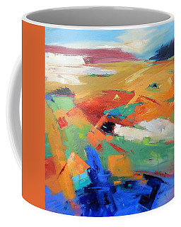 Coffee Mug featuring the painting Landforms, Suggestion Of Place by Gary Coleman