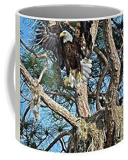 Landing Eagle Coffee Mug by Ronald Lutz