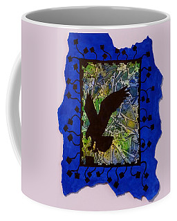 Landing Eagle Silhouette Coffee Mug