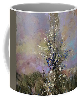 Coffee Mug featuring the painting Landscape . I Was Lucky Today. by Anastasija Kraineva