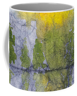 Landscape Reflection Abstraction On Masa Paper Coffee Mug