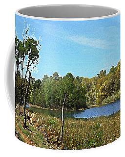Landscape, Countryside In The Netherlands, Lakes, Meadows, Trees Coffee Mug