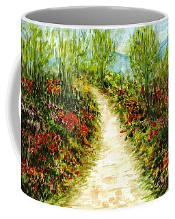 Coffee Mug featuring the painting Landscape by Harsh Malik