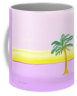 Landscape In Pink And Yellow Coffee Mug