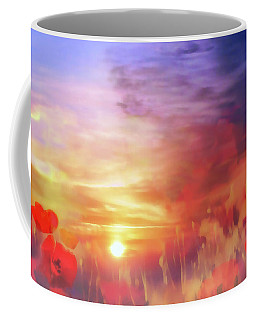 Landscape Of Dreaming Poppies Coffee Mug