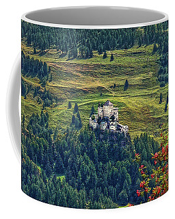 Coffee Mug featuring the photograph Landscape With Castle by Hanny Heim