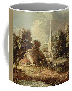 Landscape With Cottage And Church Coffee Mug