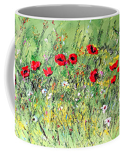 Landscape With Poppies Coffee Mug by Dorothy Maier