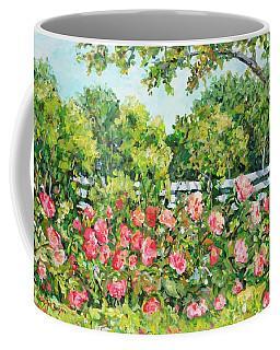 Landscape With Roses Fence Coffee Mug
