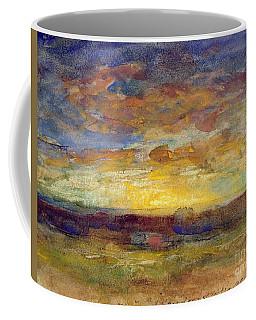 Landscape With Setting Sun Coffee Mug