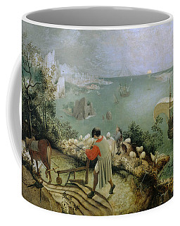 Coffee Mug featuring the painting Landscape With The Fall Of Icarus by Pieter Bruegel the Elder