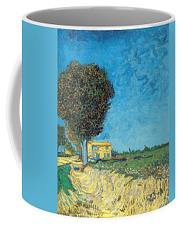Coffee Mug featuring the painting Lane Near Arles by Van Gogh