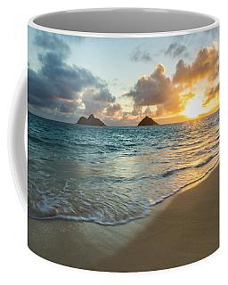 Lanikai Beach Sunrise 2 Coffee Mug by Leigh Anne Meeks