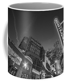 Lansdowne Street Fenway Park House Of Blues Boston Ma Black And White Coffee Mug