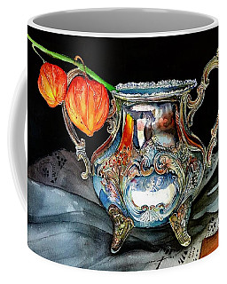 Lanterns On Silver Coffee Mug