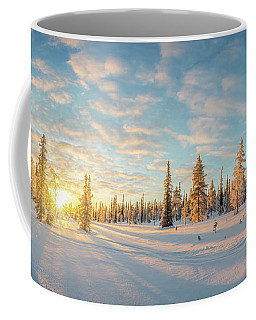 Coffee Mug featuring the photograph Lapland Panorama by Delphimages Photo Creations
