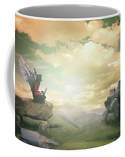 Coffee Mug featuring the digital art Laptop Dreams by Nathan Wright