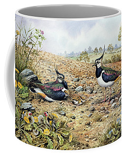 Lapwing Family With Goldfinches Coffee Mug