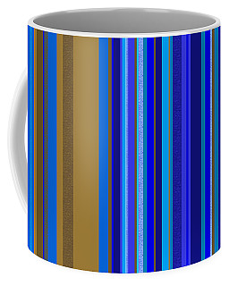 Coffee Mug featuring the tapestry - textile Large Blue Abstract - Panel Two by Val Arie