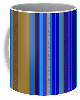 Large Blue Abstract - Panel Two Coffee Mug