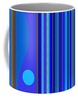 Large Blue Abstract Coffee Mug