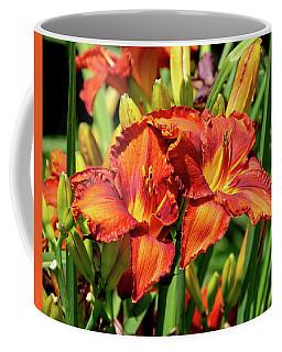 Large Deep Orange Tiger Lilys Coffee Mug