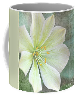 Coffee Mug featuring the pyrography Large Flower by Lyn Randle