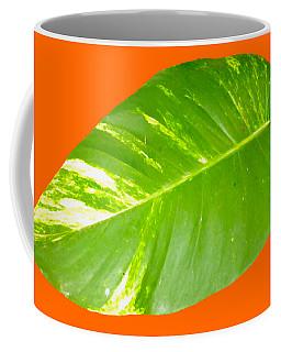 Coffee Mug featuring the digital art Large Leaf Art by Francesca Mackenney