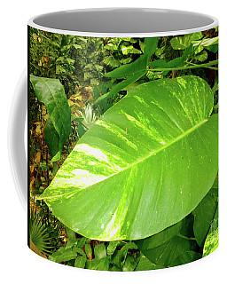 Large Leaf Coffee Mug
