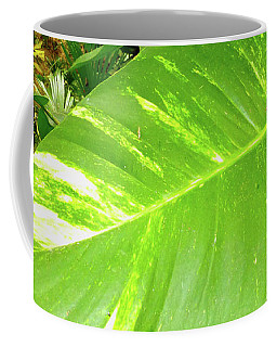 Coffee Mug featuring the photograph Large Leaf by Francesca Mackenney