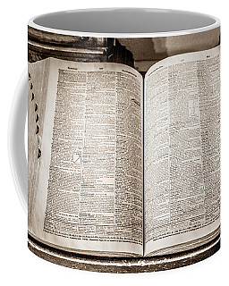 Coffee Mug featuring the photograph Large Old Dictionary by Marilyn Hunt