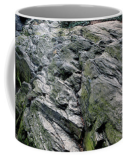 Coffee Mug featuring the photograph Large Rock At Central Park by Sandy Moulder