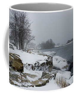 Large Stones Covered With Snow Coffee Mug