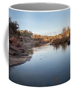 Coffee Mug featuring the photograph Large Stream By Large Rocks  by PorqueNo Studios