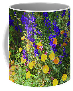 Larkspur And Primrose Garden Coffee Mug