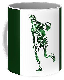 Larry Bird Boston Celtics Pixel Art 10 Coffee Mug