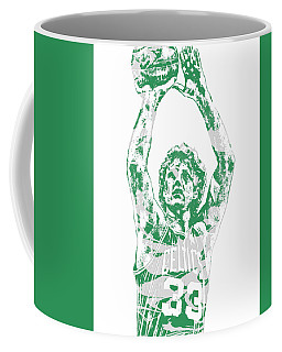 Larry Bird Boston Celtics Pixel Art 5 Coffee Mug